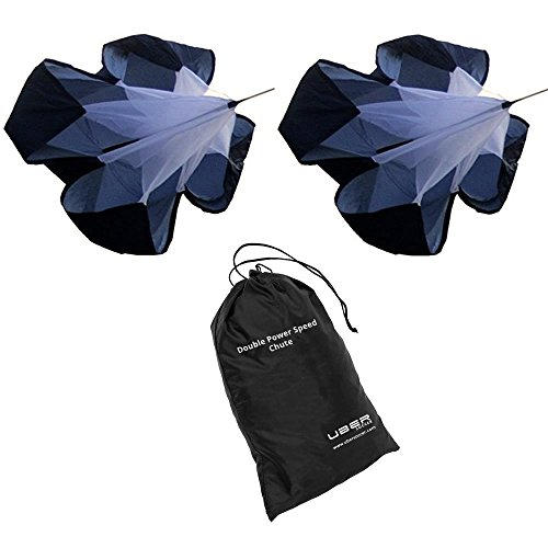Uber Soccer Resistance Parachute- Double Speed Chute for power training by Uber Soccer