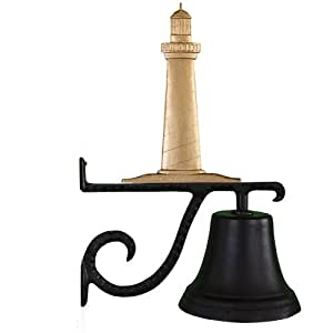 Montague Metal Products Cast Bell with Gold Cape Cod Lighthouse