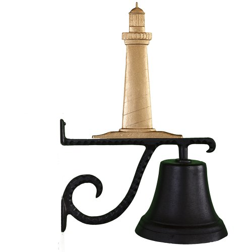 Montague Metal Products Cast Bell with Gold Cape Cod Lighthouse -
