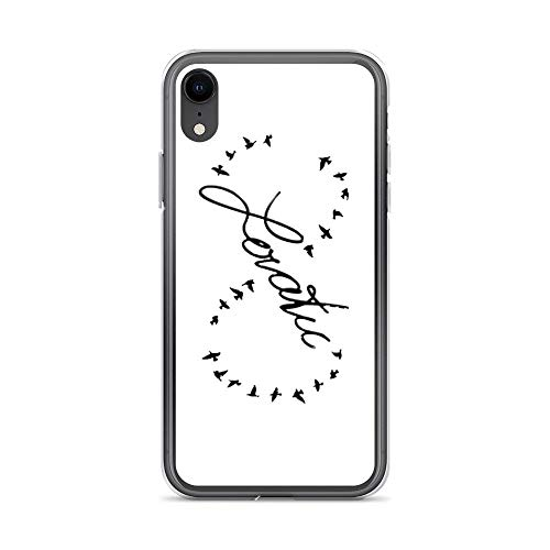 iPhone XR Case Clear Anti-Scratch Lovatic Birds, Demi Cover Phone Cases for iPhone XR, Crystal Clear