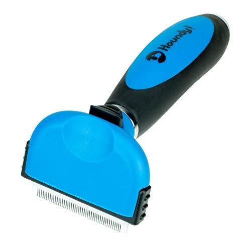 Houndy! cepillo para polvo profesional para perros y gatos, reduce drásticamente el desprendimiento hasta en un 95% con...