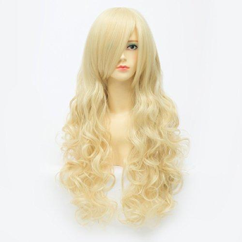 Qiyun Z Kashiwazaki Sena Blonde Cosplay Anime Long Wavy