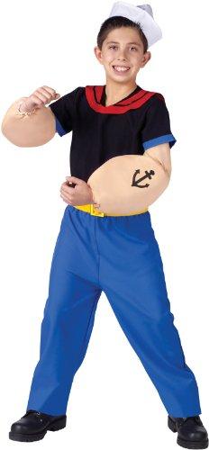 Popeye Costume - Small (Popeye Muscles Costume)