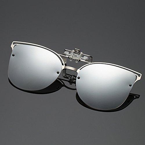KLXEB De Ferries Lentes De Encajar Plata Plegable Mujer Silber Miopía Gafas Polarizadas Visión Nocturna Gafas Lujo De Gafas Sol Femenina BWBgrq5XZ