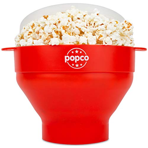 Cheapest Prices! The Original Popco Silicone Microwave Popcorn Popper with Handles, Silicone Popcorn...