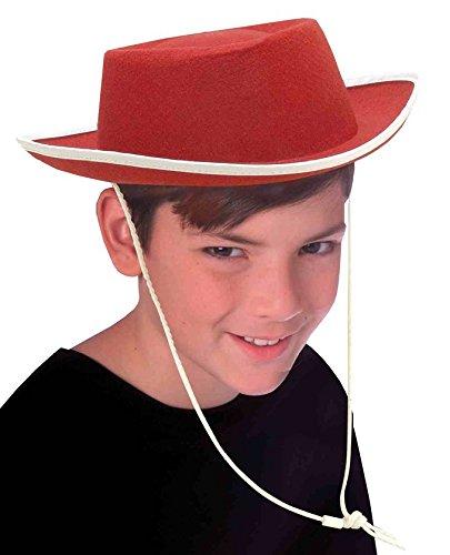 [Red Cowboy Child Hat] (Child Red Cowboy Hat)