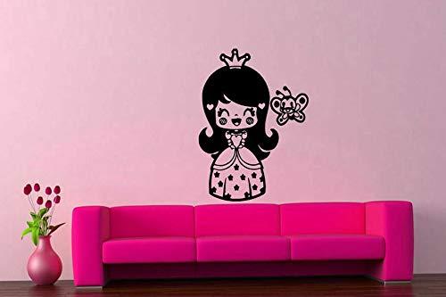 Tomikko Little Princess Wall Decal Sticker Girly Room Decor Art Angel Fairy #493 | Model DCR - 464
