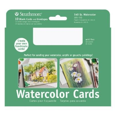 Strathmore ST105-150 5 x 6.875 Watercolor Cards and Postcards (Watercolor Art Card)