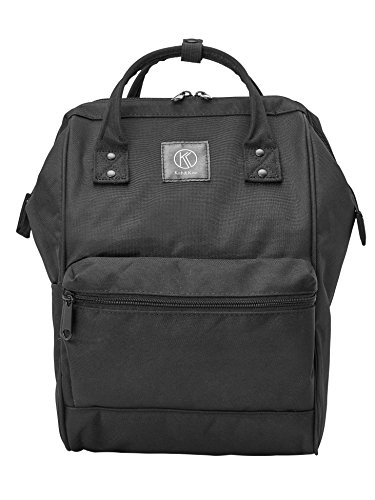 Kah&Kee Polyester Travel Backpack Functional Anti-theft School Laptop for Women Men (Black, Small) from Kah&Kee