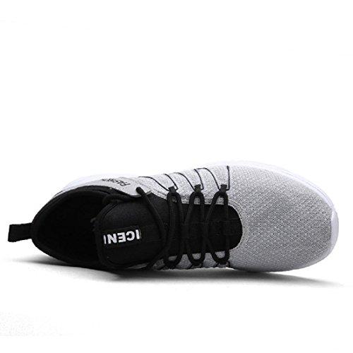 Hombres Zapatos deportivos Formación al aire libre Ocio Zapatos para correr Zapatos de viaje Grey