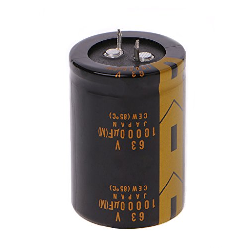 Yuly 1 Pc Audio Electrolytic Capacitor 10000uF 63V 36x52mm (63v Aluminum Electrolytic Capacitor Radial)
