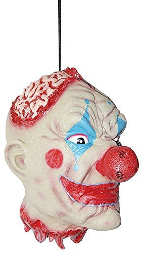 Life-Sized Severed Latex Clown Head Halloween Prop, Sunstar Industries ()