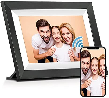 MARVUE WiFi Digital Picture Frame (10.1-inch, 16GB Storage), Smart Autoplay Electronic Photo Frame with IPS Touch Screen, Easy Setup to Send Photos&Video Remotely via App