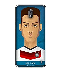 ColorKing Football Ozil Germany 01 Blue shell case cover for Nokia 2
