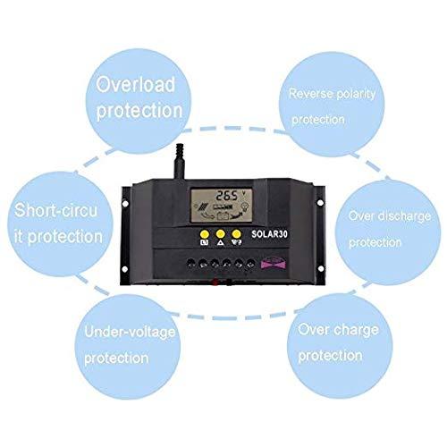 Sun YOBA 30A 12V 24V Solar Panel Battery Charge Controller Intelligent Regulator by Sun YOBA (Image #2)