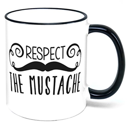 Cup Moustache (Respect The Mustache Coffee Mug)