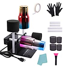 Asany Double Cup Turner for Crafts Tumbler - Electric Cuptisserie Spinner Machine Kit with Silent Motor and Safety Switch, Professional Cuptisserie Tumbler for DIY Glitter Epoxy Crafts