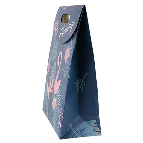 Party Favor Bags Flamingo Paper Gift Bags With Handle Fashion Paper Treat Bags for Parties Shopping Wedding Goody and Loot Bags (L) by NOBBEE (Image #4)