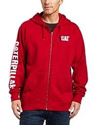 Caterpillar Full-Zip Hooded Sweatshirt, Chili pepper,