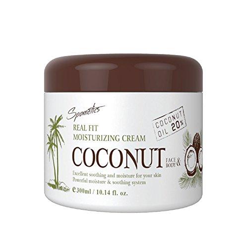 (Spometics Real Fit Moisturizing Cream COCONUT Face & Body (300ml))