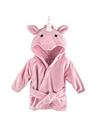 Hudson Baby Soft Plush Baby Bathrobe, Pink Unicorn, 0-9 Months
