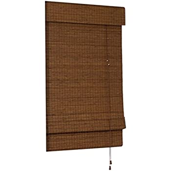 Radiance Cape Cod Bamboo Roman Shade with Valence, 23-Inch Wide by 72-Inch Long, Maple, 0216200