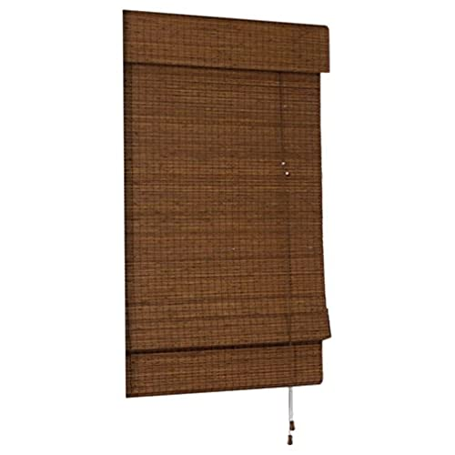 Radiance Cape Cod Bamboo Roman Shade With Valence, 23 Inch Wide By 72 Inch  Long, Maple, 0216200