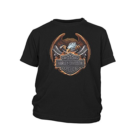 16'h Eagle (Harley-Davidson Youth Short-Sleeve T-Shirt - Overseas Tour | Eagle Fire XL (14-16))