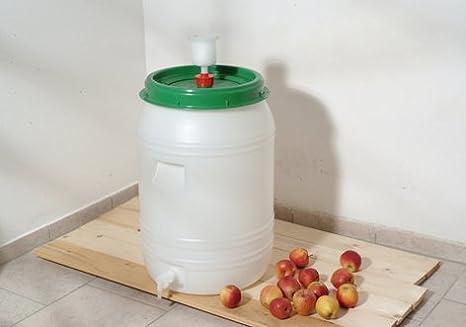 Auslaufhahn für Mostfass Getränkefass Maischefass 30 60 Liter Ersatzhahn Rund