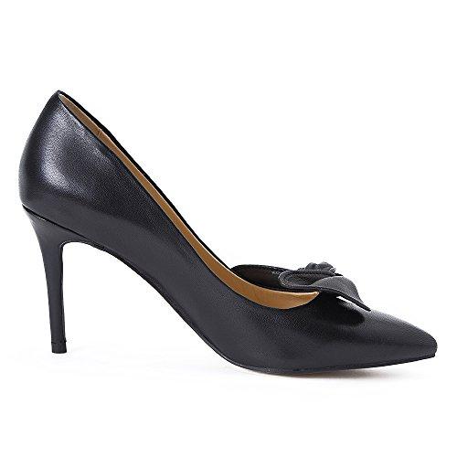 Darco Gianni Damen Pump Schuhe Mit Absatz Womens High Heels Shoes Spitze Schwarz Leder For Hochzeit Party Abend Black Tie