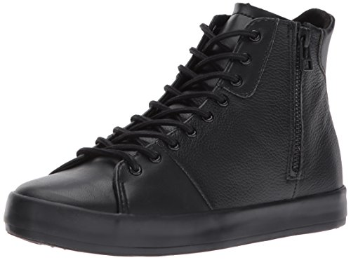 Creative Recreation Womens Carda Hi Sneakers in Black Leather Black Leather