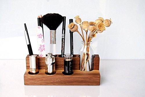 Kosmetikständer aus Holz mit Vase, Aufbewahrung für Kosmetik