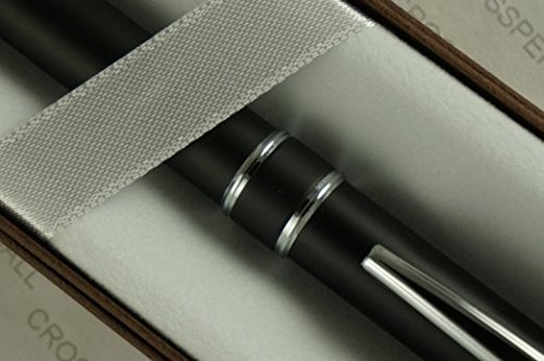 Cross Executive Companion Matte Black,Cross Signature Jewelry-quality Center Bands & Spring Loaded Unique Clip BallPoint Pen .Great gift for Graduation,Christmas,Wedding, Birthday,Christening - Blacks Pen Centre