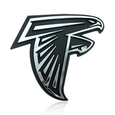 NFL Atlanta Falcons Chrome Car Emblem