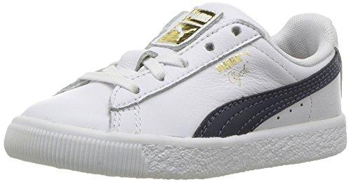 Puma Infant Clyde Core L Folien Schuhe Puma White/Puma New Navy