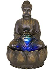 Blossoming Buddha Water Feature With Lights