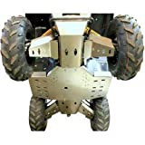 Skid plate Offroad Yamaha Grizzly 550/700, 2009-2013 Complete set including rear and front A-Arm guards in 4mm (1 37/64 in) aircraft aluminum