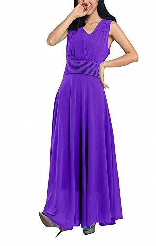 AFCastle Fetching Women Double Sleeveless Ruched Waist Ladies Long Evening Dress (Medium, - City Macys Jersey
