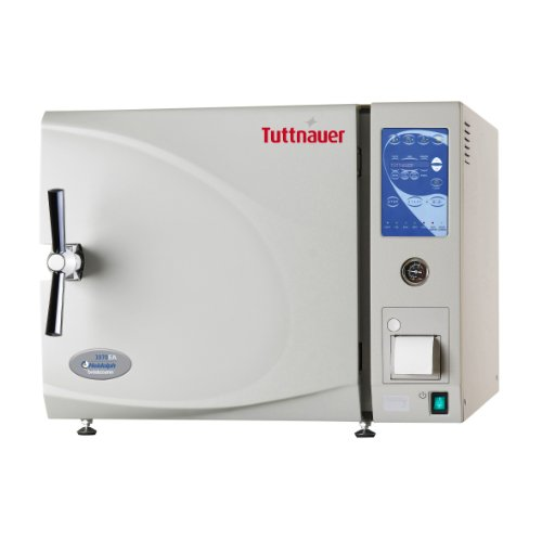 """Heidolph Tuttnauer 3870Eap Autoclave Sterilizer Electronic Air-Driven Model with Printer and 2 Stainless Steel Trays, 85L Capacity, 15"""" Diameter Chamber, 220V"""