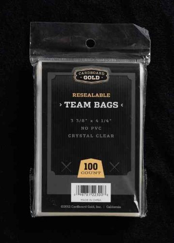 - CBG 1000 ct Resealable Sports Card Team Set Bags Cardboard Gold FREE SHIPPING