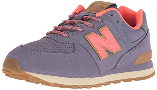 New Balance Girls' Iconic 574 Sneaker, deep Cosmic Sky/Dragonfly, 7 W US Toddler