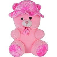 AVS Stuffed Spongy Soft Cute Cap Teddy Bear - 55 cm (Pink)