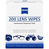 Zeiss Pre-Moistened Lens Cleaning Wipes, 6 x 5-Inches, 200 count