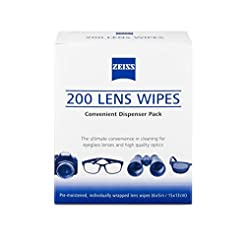 Zeiss Pre-Moistened Lens Cleaning Wipes,...