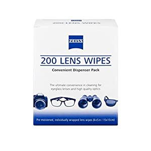 Zeiss Pre-Moistened Lens Cleaning Wipes 200 Ct, White