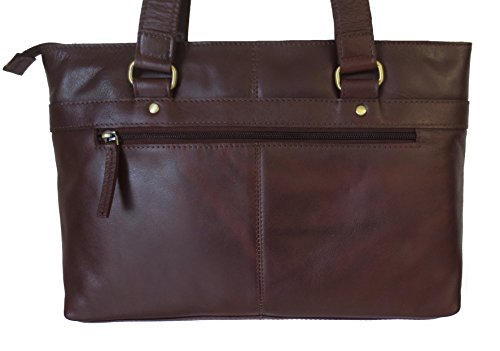 Leather Women's Shoulder Bag Brown Leather Large Brown Shoulder Women's qaUaSxn