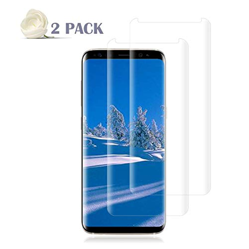 ([2 Pack] Galaxy S8 Screen Protector [9H Hardness][Anti-Scratch][Anti-Bubble][3D Curved] [High Definition] [Ultra Clear] Tempered BBInfinite Compatible Samsung Galaxy S8)