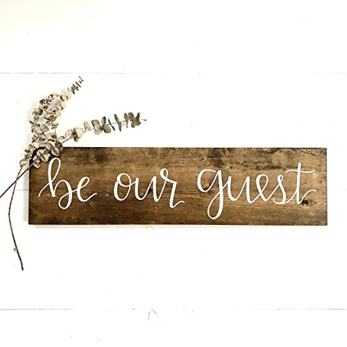 Enid18Bru Wood Be Our Guest Sign Medium Guest room Sign bedroom Sign rustic wood Sign 20x15
