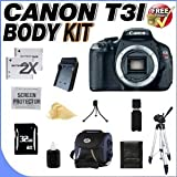 Canon EOS Rebel T3i 18 MP CMOS Digital SLR Camera (Body Only) and DIGIC 4 Imaging + 32GB SDHC Memory Card + TWO Extended Life LPE8 Batteries + Ac/Dc Rapid Charger + Deluxe Case w/Strap + Full Size Tripod + Memory Card Wallet + USB Card Reader + Accessory Saver Bundle!, Best Gadgets