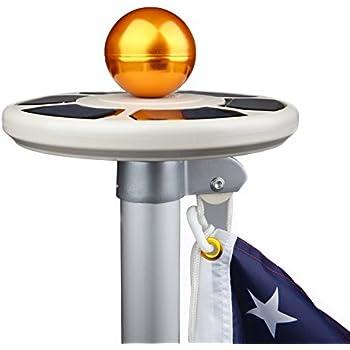 Amazon Com Deluxe Solar Flag Pole Light Flag Light Led